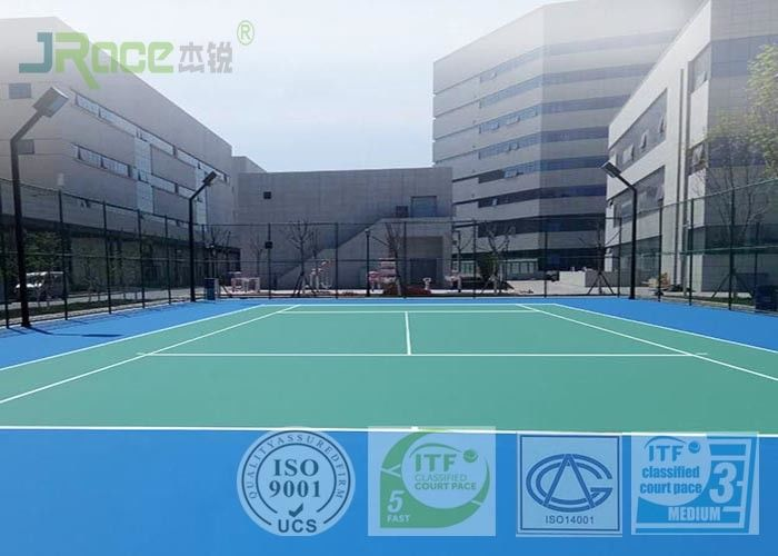 Environmental Acrylic Sports Flooring For Basketball / Badminton / Volleyball