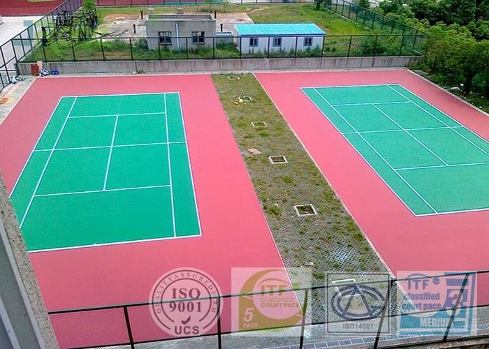 All Weather Acrylic Sports Flooring Tennis Court Covering For High School / College